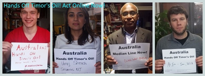 Take Action: Australia Hands Off Timor's Oil