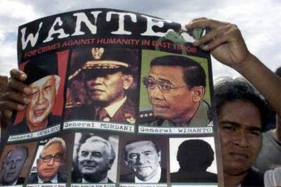 Wiranto among most wanted in East Timor.