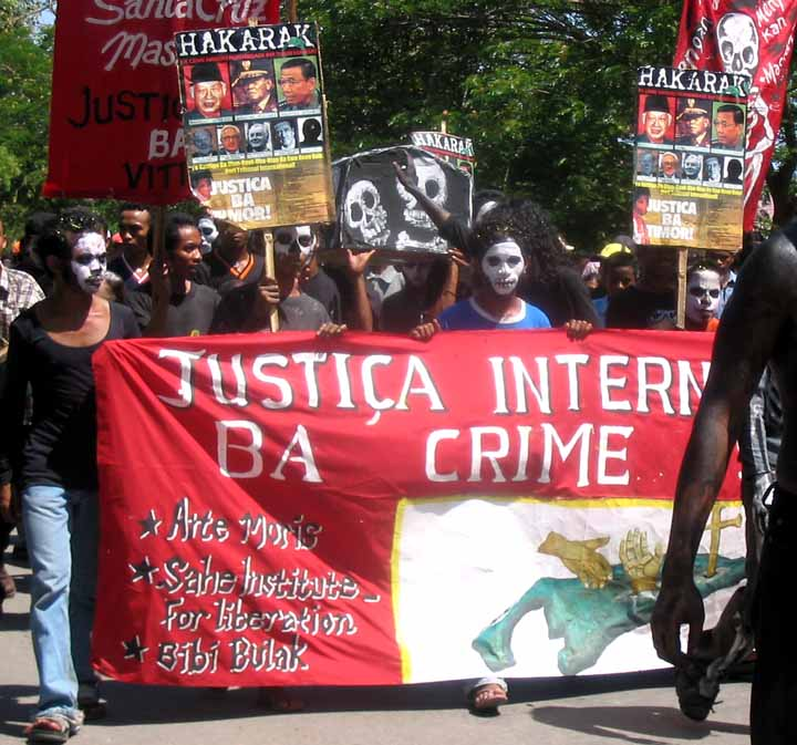 Protest for justice and accountability in Dili, Timor-Leste