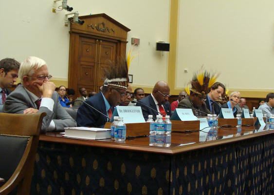 Panel at hearing on West Papua.