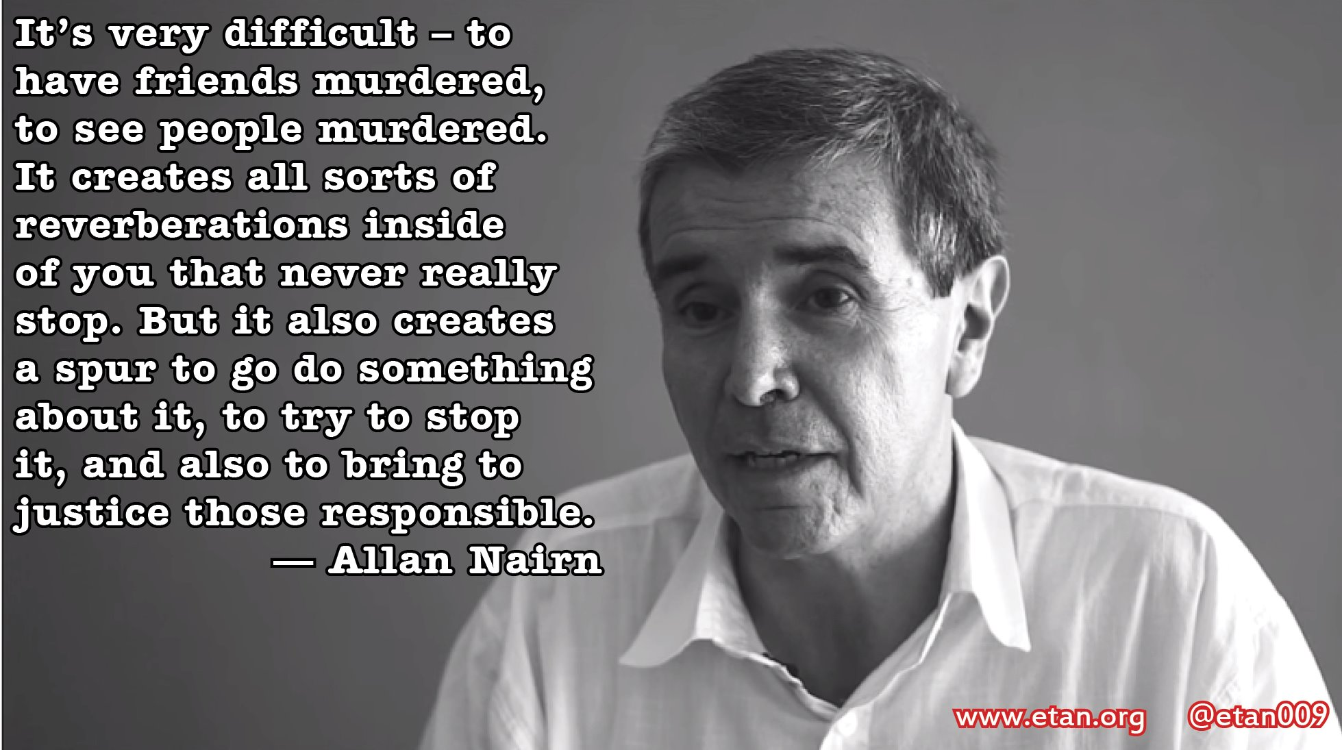 Journalist Allan Nairn on justice, Indonesia, Guatemala, Timor, West Papua