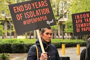 London demonstration calls for #openpapua