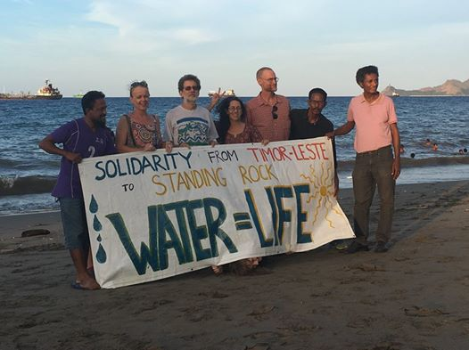 Solidarity with Standing Rock Sioux & the #waterprotectors of #dakota outside U.S embassy #Dili, #timorleste