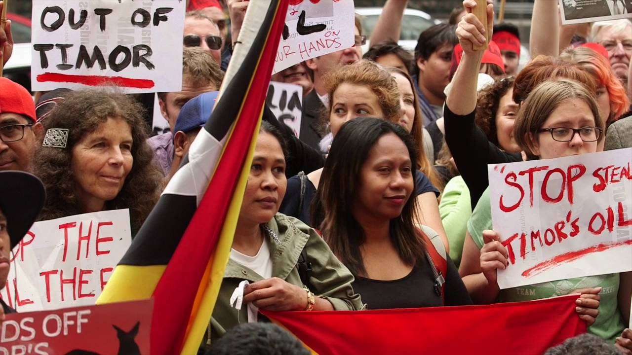 Demonstration in support of Timor-Leste's rights in the Timor Sea.