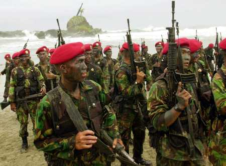 Oppose Training Indonesia Notorious Kopassus Special Forces